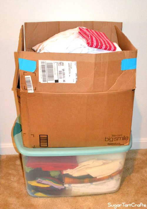 2 boxes of fabric