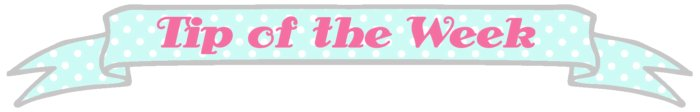 Sewing tip of the week banner