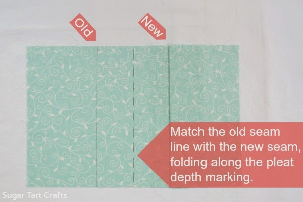 How to fold a box pleat