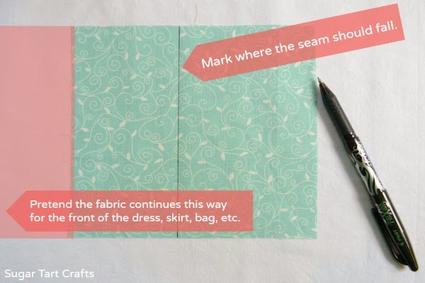 Pleat Tutorial: How to hide a seam inside an inverted box pleat.