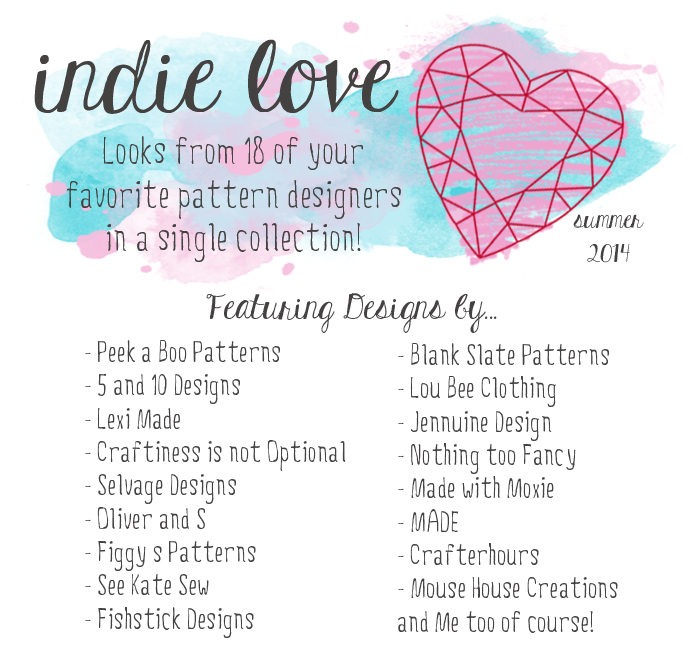 The Indie Love Collection by Sugar Tart Crafts featuring 18 of your favorite online pattern designers.