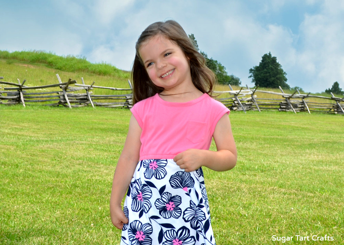 The Lulu Dress Pattern by Craftiness is Not Optional sewn by Sugar Tart Crafts
