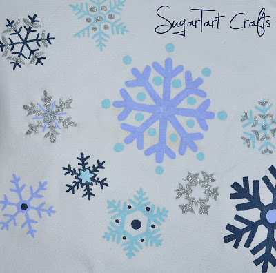 painted snowflakes