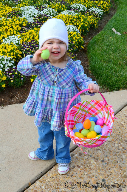 Little girl with an easter basket