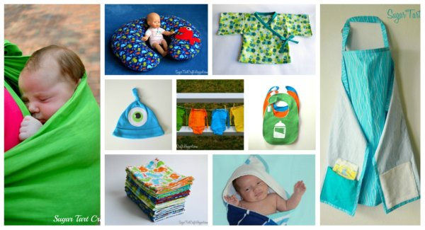 DIY Homemade baby projects collage