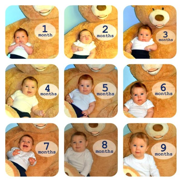 9 month baby photo collage