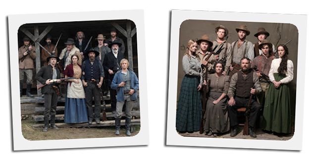 Family portraits of the Hatfields and the McCoys from the history channel miniseries