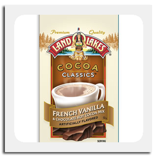 Land o' Lakes French Vanilla flavored hot cocoa