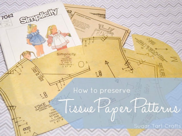 How to preserve tissue paper sewing patterns.