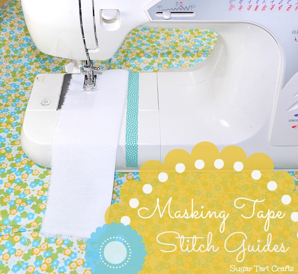Masking take stitch guides for sewing