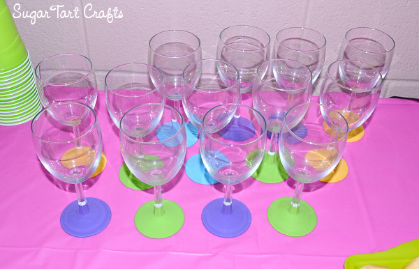 Colorful chalkboard paint glasses