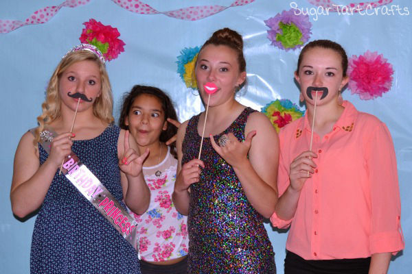 Birthday Party Photo-booth lips and mustache props