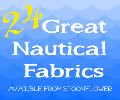 24 great nautical inspired fabric prints avalible from spoonflower.com