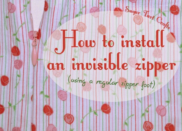Zipper Tutorial: How to install an invisible zipper using a regular zipper foot.