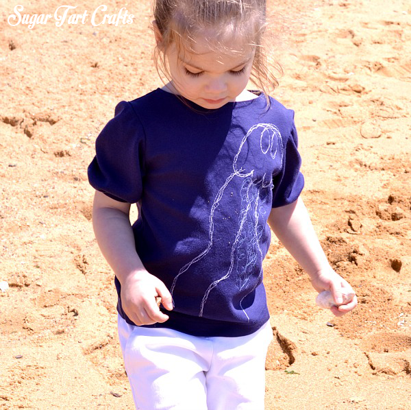 Toddler fashion DIY Jellyfish shirt