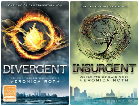 Divergent and Insurgent book covers