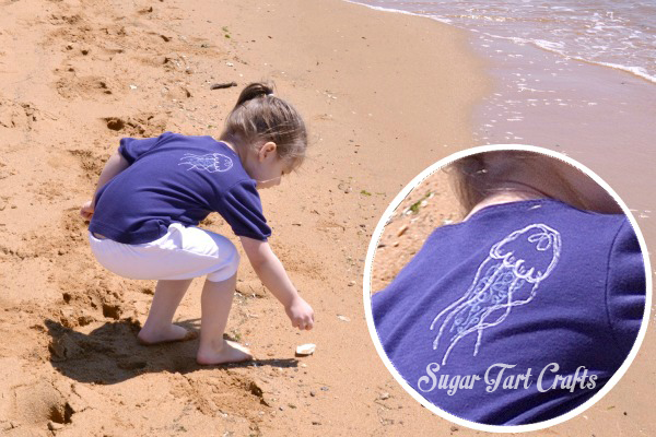 Free motion jellyfish diy shirt