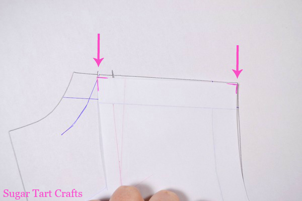 adjust the length of the shoulder seams