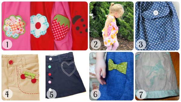 Collage of pocket sewing tutorials