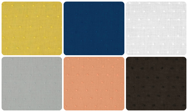 Swiss Dot fabric collage