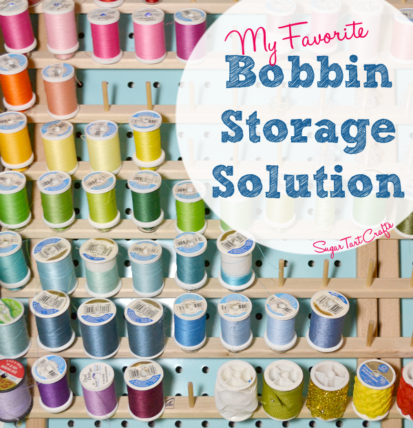 Bobbin Storage solution using plastic tubing