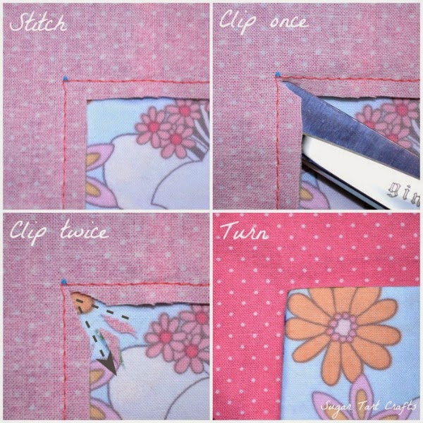 How to clip inside corners when sewing