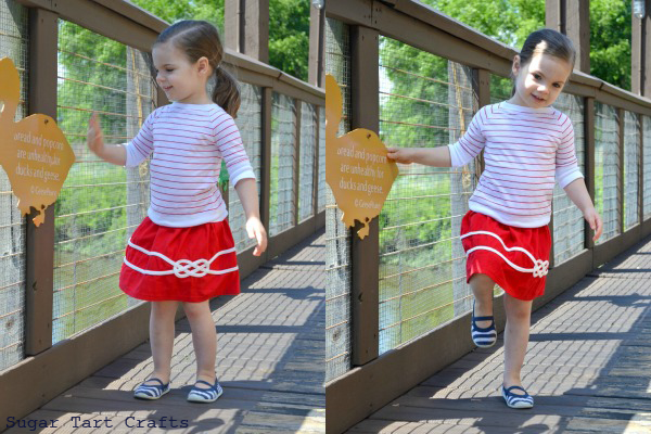 Nautical inspired knot skirt