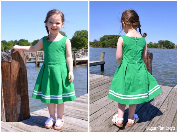 Coastal Bliss : a little girls homemade designer knock off dress