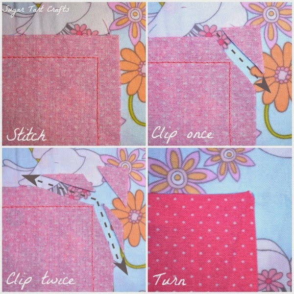 How to clip outside corners when sewing