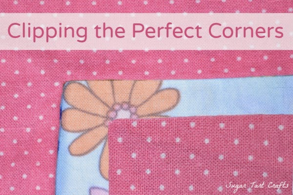 How to trim seam allowance to create sharp, perfectly sewn corners.