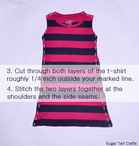 A Simple T Shirt To Toddler Dress Refashion Stitch And Pink