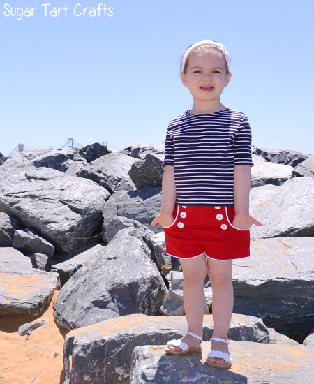 Kid's sailor shorts pattern remix