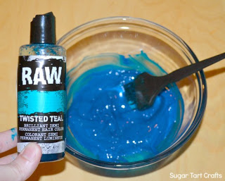 RAW Twisted Teal Hair Color
