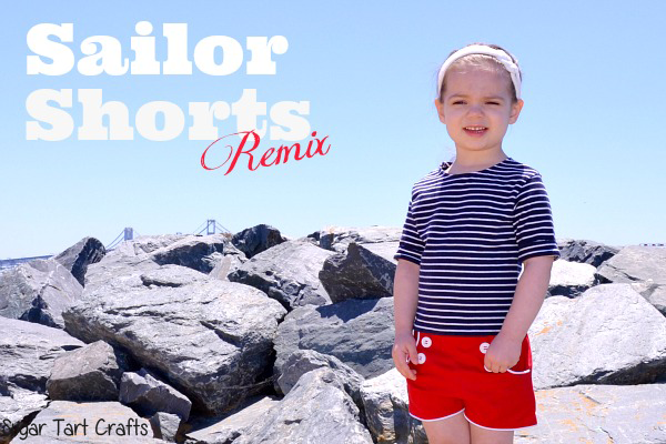 My version of Peek-a-boo Pattern's sailor shorts