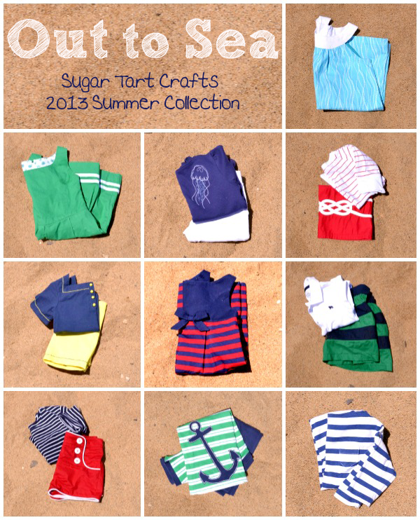 Out to Sea - Sugar Tart Crafts 2013 summer collection of nautical inspired toddler clothes.