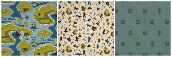 Riley Blake - Pirate Matey's Fabric Collection