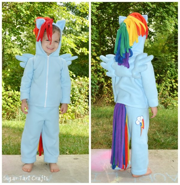 My Little Pony:Rainbow Dash Pegasus Halloween costume and play-set