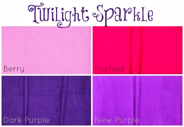 Hancock Fabrics fleece colors for Twilight Sparkle Costumes