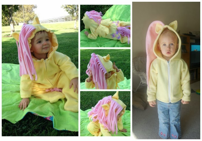 DIY Fluttershy children's costumes