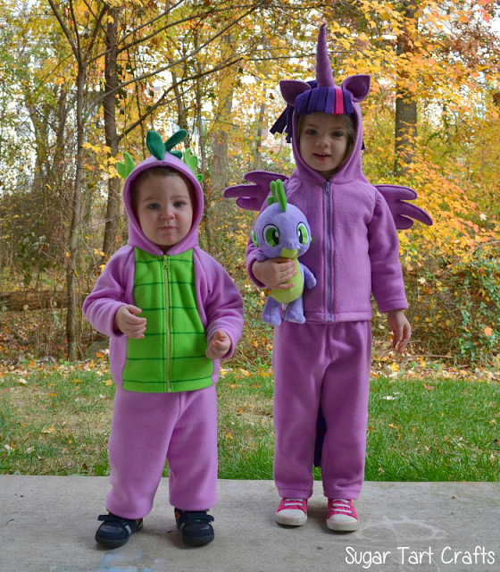 Spike the Dragon and Twilight Sparkle Halloween Costumes