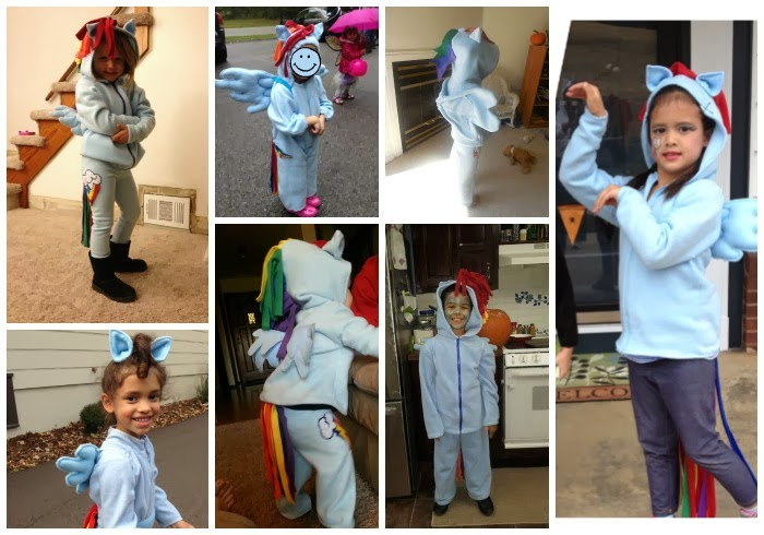 DIY Rainbow Dash children's costumes
