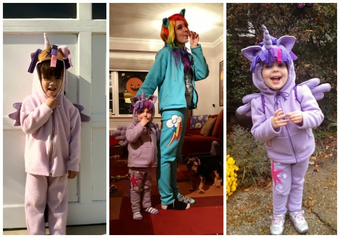 DIY Twilight Sparkle children's costumes