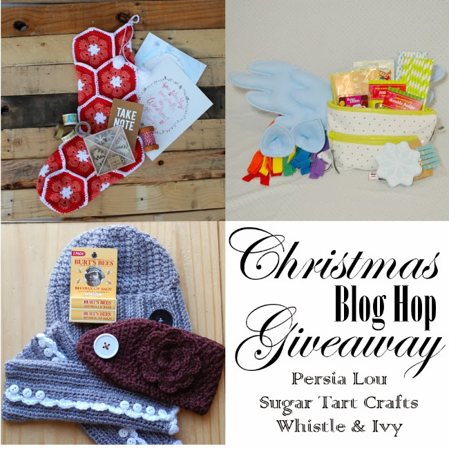 Christmas 2013 Blog Hop Giveaway - Persia Lou, Whistle & Ivy, Sugar Tart Crafts