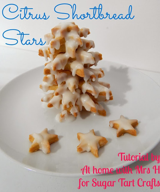 Citrus Shortbread Star Trees : At home with Mrs. H