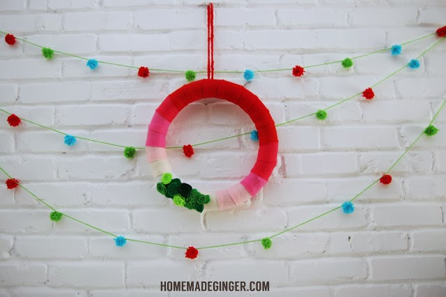 Pom Pom Garland : Homemade Ginger