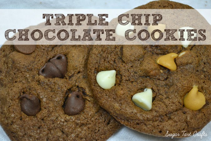 Triple Chip Chocolate Cookies Recipe : Sugar Tart Crafts