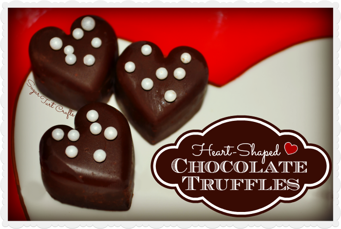 Delicious Heart-shaped Chocolate Truffles