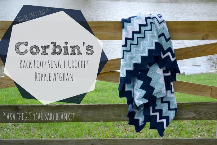 Back Loop Single Crochet Ripple Blanket Pattern