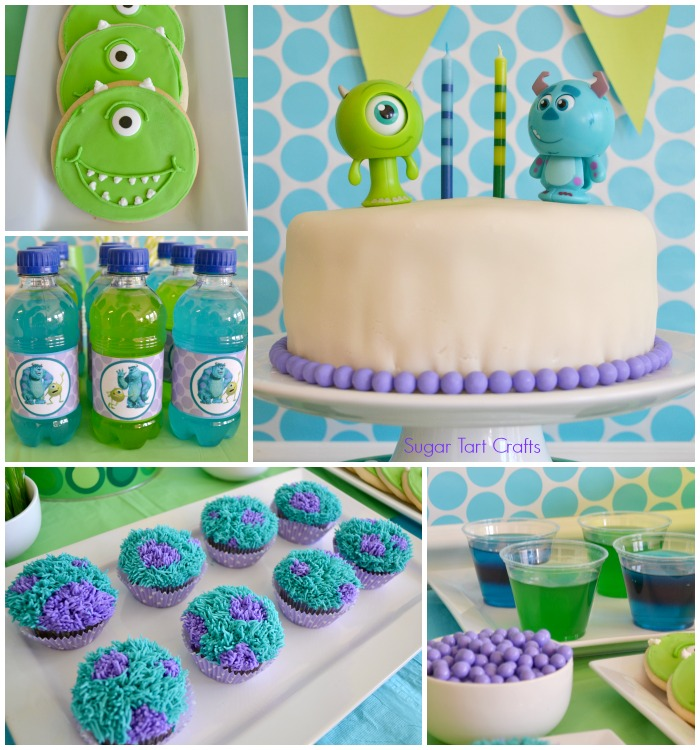 Monsters Inc 2nd Birthday Party Stitch And Pink