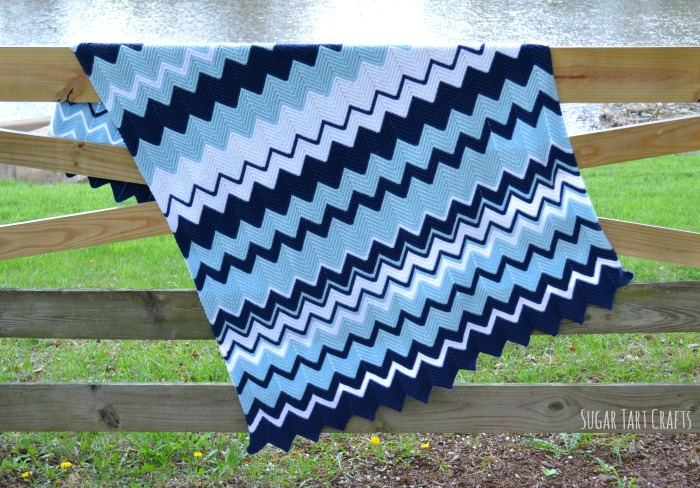 Single Crochet Ripple Blanket Pattern